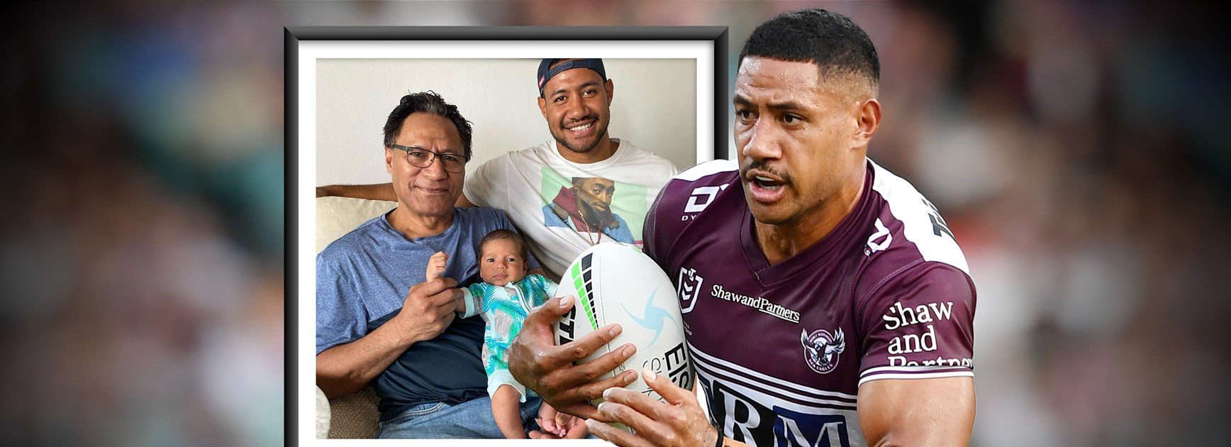 Night shifts to NRL: Manly giant honours dad's sacrifice for family