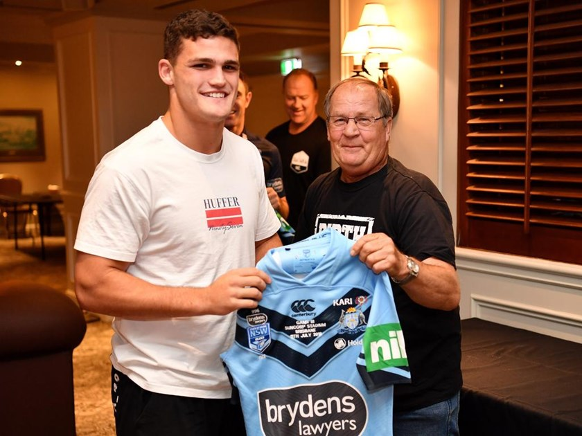 Tommy Raudonikis and Nathan Cleary in 2018.