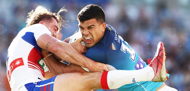 Fifita unstoppable as Titans thump Knights in Ponga's return
