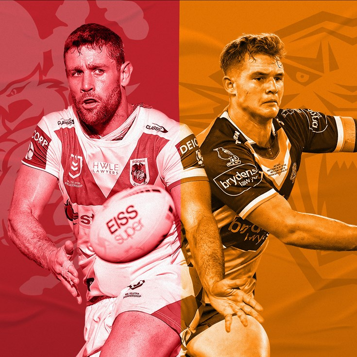Dragons v Wests Tigers preview: Hunt back; rookie replaces Roberts