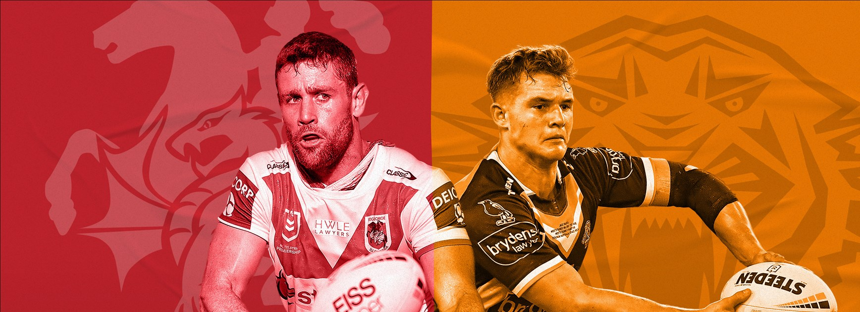 Dragons v Wests Tigers: McGuire to start; rookie replaces Roberts