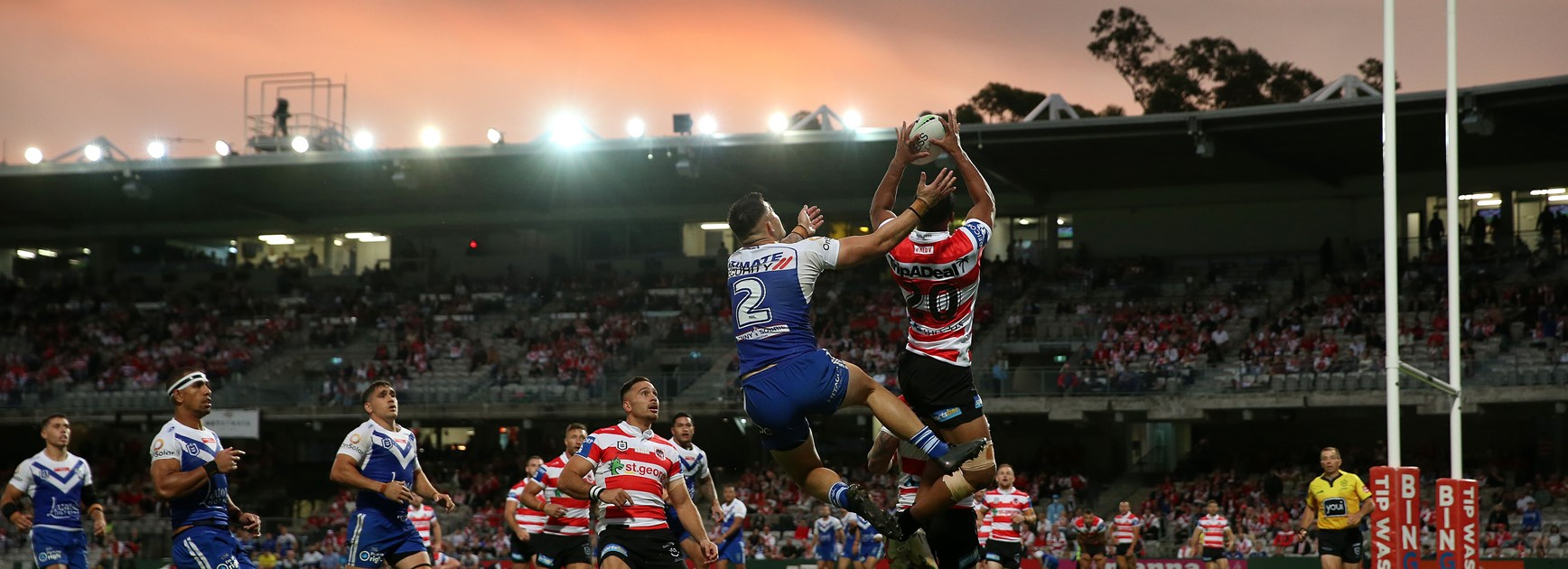 Dragons 'scratchy' but debutants have a ball in dominant win over Dogs