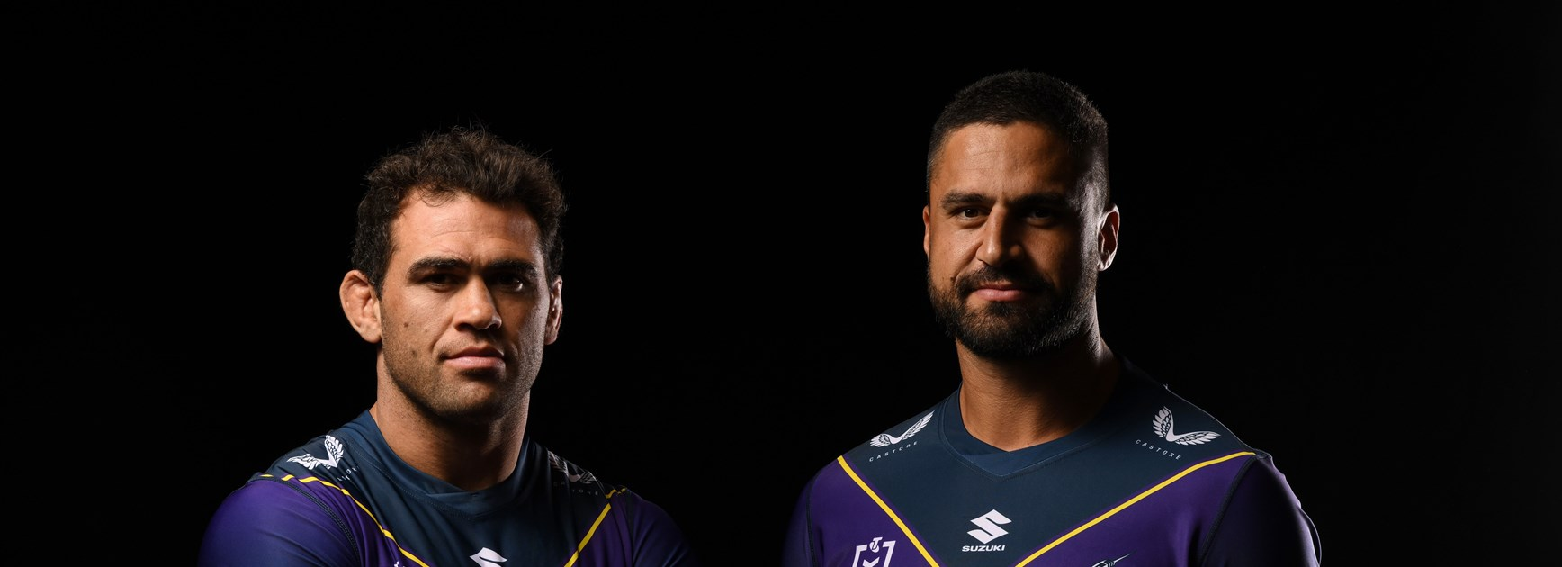 Storm skippers Dale Finucane and Jesse Bromwich.