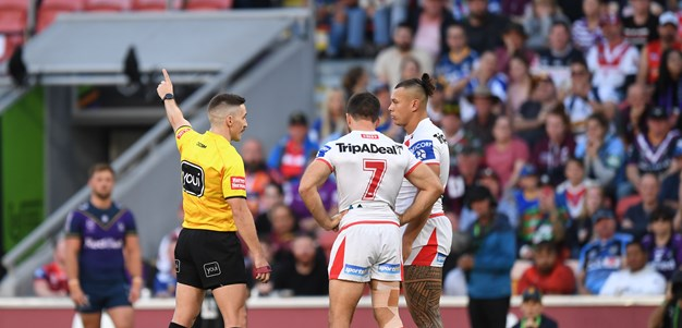 Fuimaono sent off for Papenhuyzen hit as Storm outclass Dragons