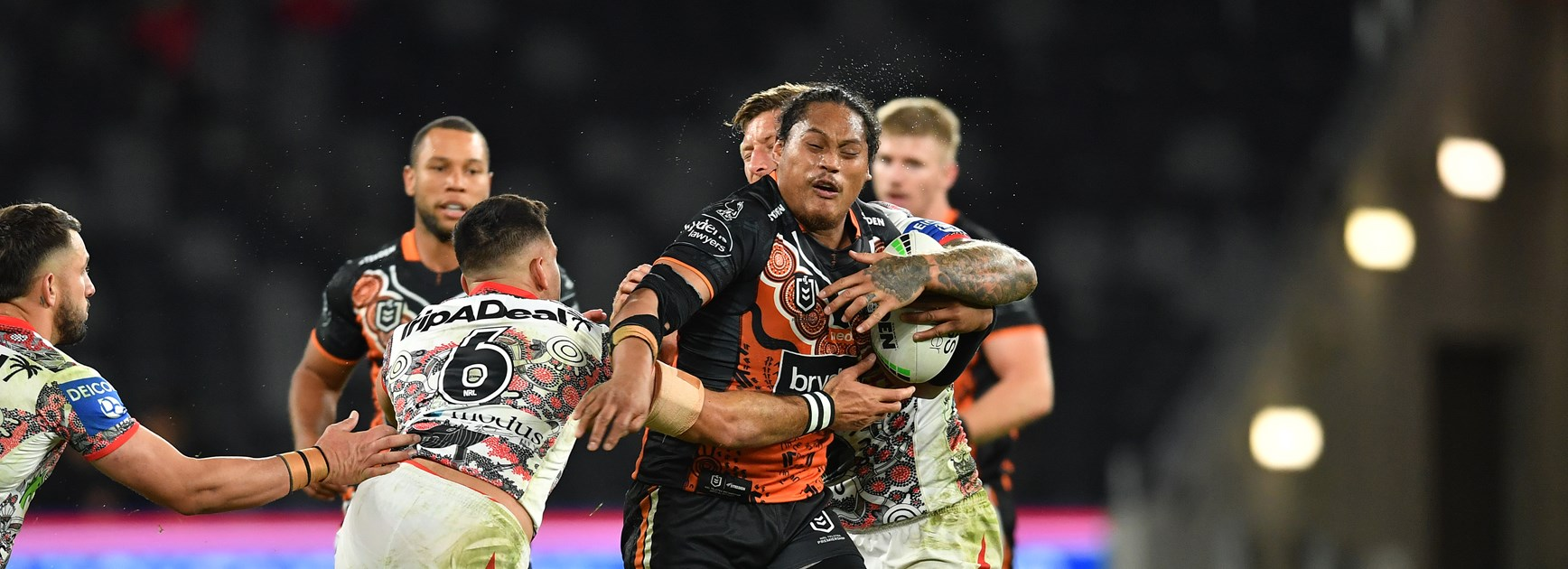 Wests Tigers second-rower Luciano Leilua.