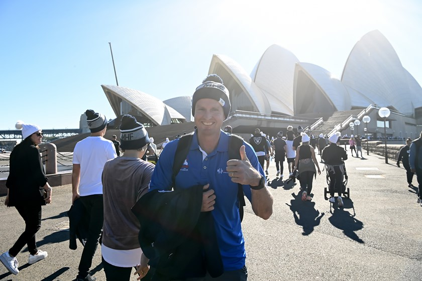 Mark Hughes after walking to the Sydney Opera House.