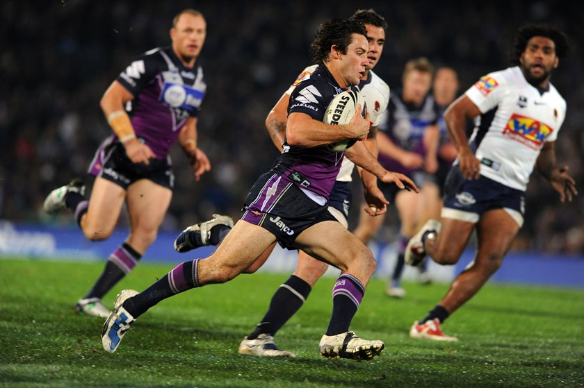 Cooper Cronk played 323 games for the Storm between 2004 and 2017.