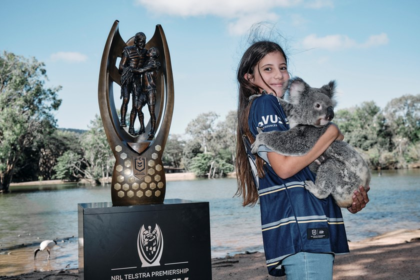 The NRL Trophy Tour makes its way through Queensland.