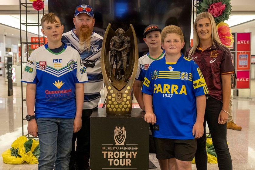 The NRL Trophy Tour made a stop in Toowoomba.