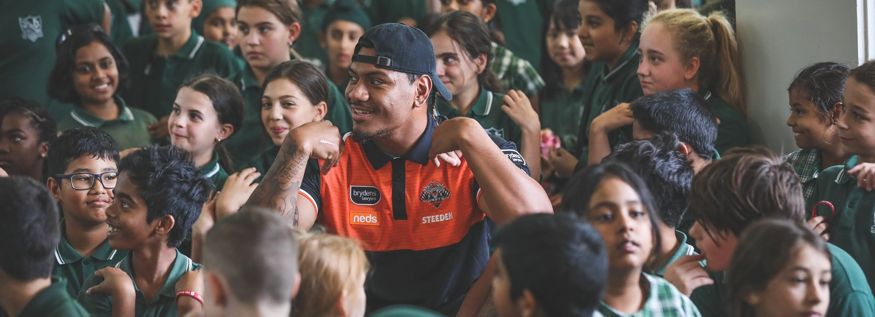 Wests Tigers at the NRL Community Blitz.