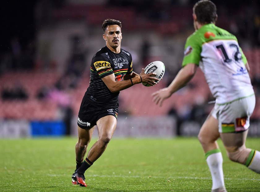 Daine Laurie in action for Penrith in 2020.