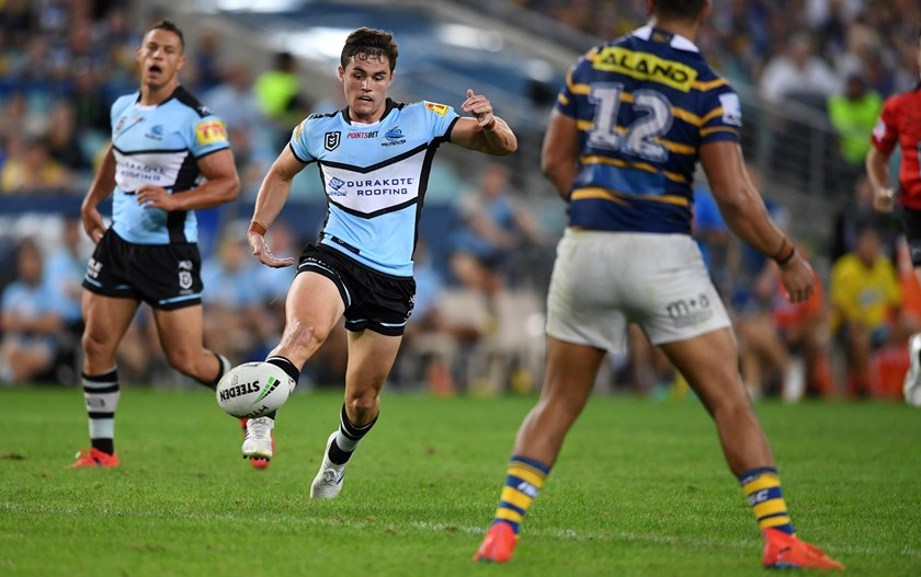 Kyle Flanagan in action for the Sharks.