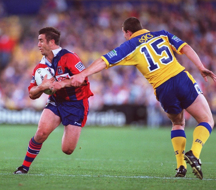 Andrew Johns tormented the Eels in the 2001 decider.