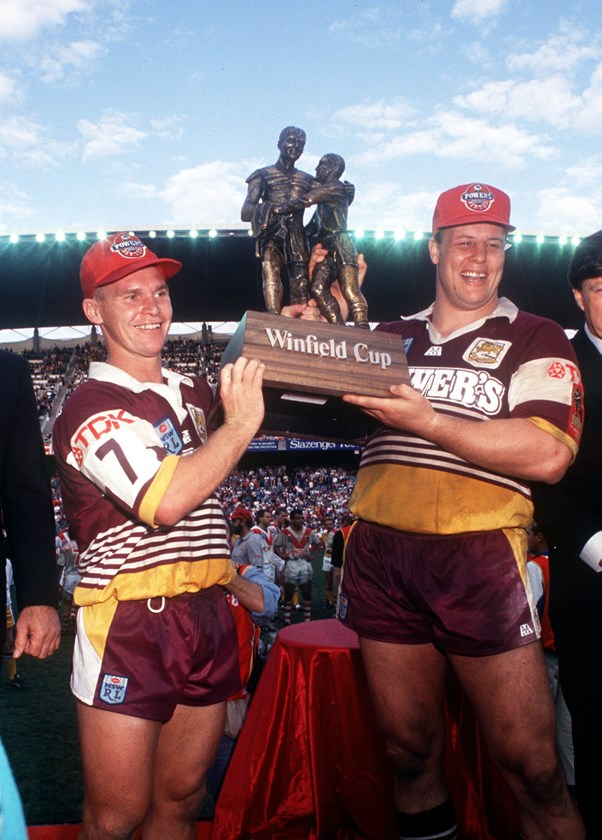 Allan Langer and Glenn Lazarus were pivotal to the Broncos' success.