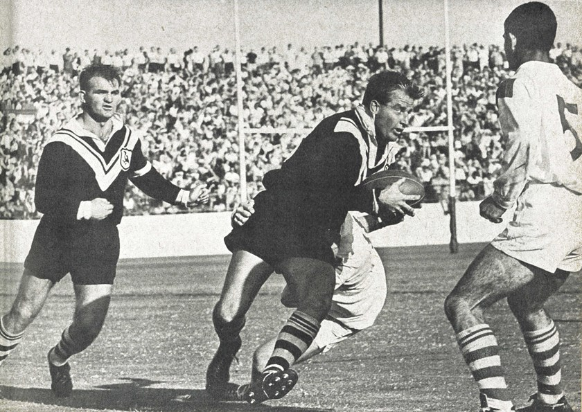 Kelly in action for Wests Magpies against fierce rivals St George.