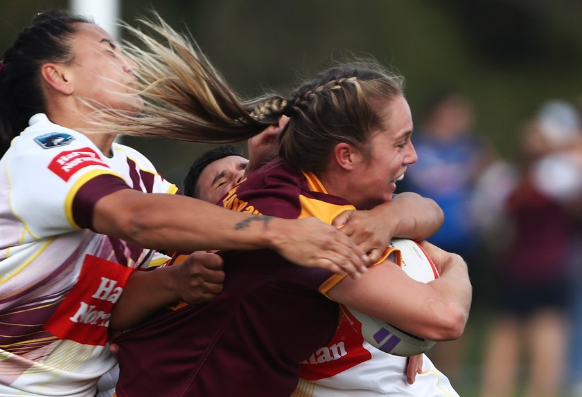 Kezie Apps hits it up for NSW Country against Queensland Country in 2019.