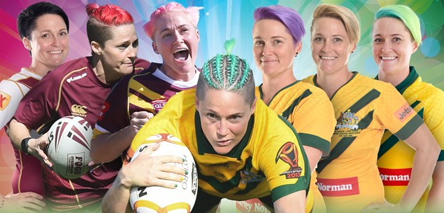 Queensland winger Chelsea Baker colours her world
