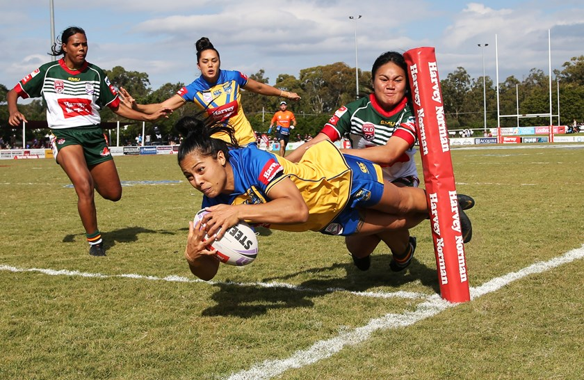 NSW City's Tiana Penitani scored a hat-trick of tries against SEQ.