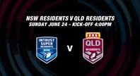 Watch: NSW Residents v Qld Residents