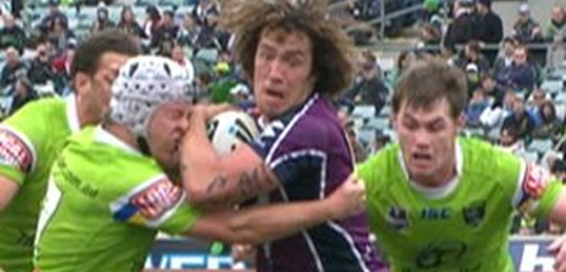 Full Match Replay: Canberra Raiders v Melbourne Storm (1st Half) - Round 19, 2011