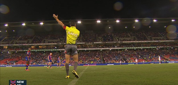 Full Match Replay: Newcastle Knights v St George-Illawarra Dragons (1st Half) - Round 5, 2015