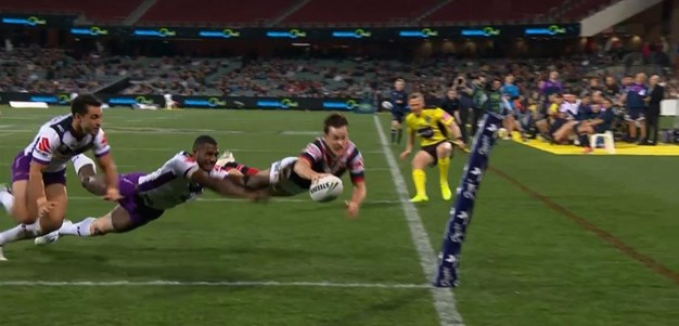 Rd 16: Roosters v Storm - No Try 6th minute - Luke Keary