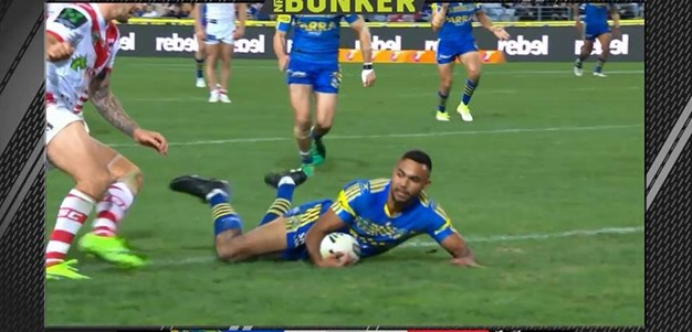 Rd 15: Eels v Dragons - Try 56th minute - Bevan French