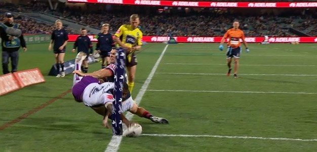 Rd 16: Roosters v Storm - Try 52nd minute - Suliasi Vunivalu