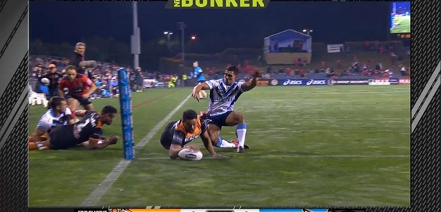 Rd 16: Tigers v Titans - Try 8th minute - Esan Marsters