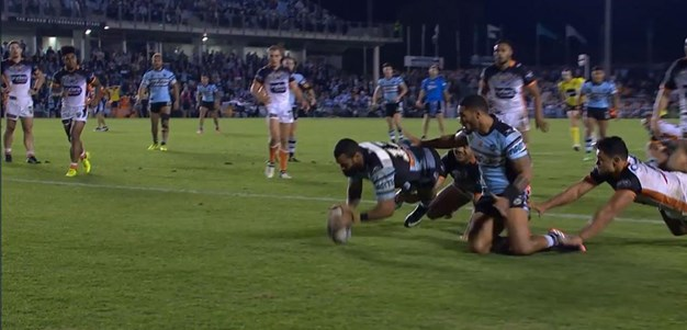 Rd 15: Sharks v Tigers - Try 78th minute - Jayson Bukuya