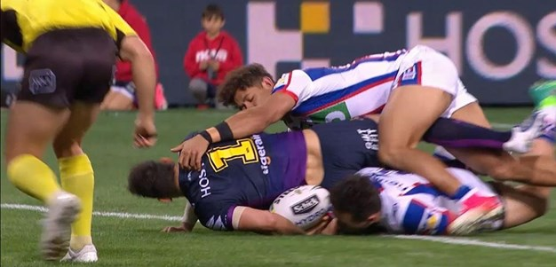 Rd 13: Storm v Knights - Try 43rd minute - Billy Slater