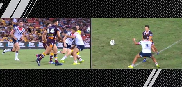 Rd 6: Broncos v Roosters - No Try 33rd minute - Bill Tupou