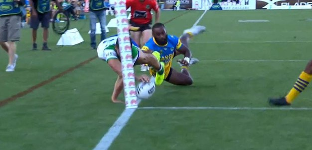 Rd 5: Raiders v Eels - No Try 11th minute