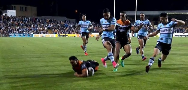 Rd 9: Tigers v Sharks - No Try 2nd minute
