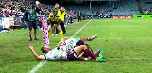 Rd 9: Rabbitohs v Sea Eagles - Try 50th minute - Hymel Hunt