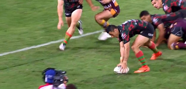 Rd 8: Rabbitohs v Broncos - No Try 66th minute - Bryson Goodwin