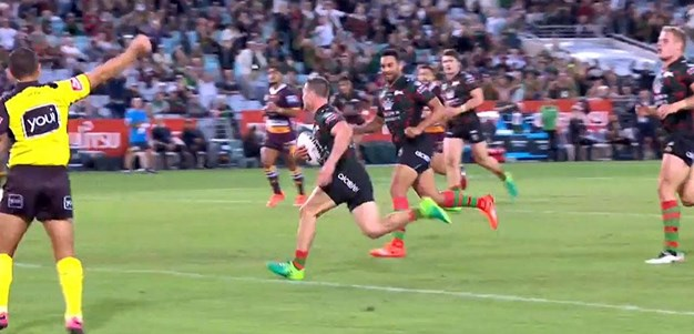 Rd 8: Rabbitohs v Broncos - Try 5th minute - Damien Cook