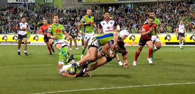 Rd 7: Raiders v Warriors - No Try 37th minute