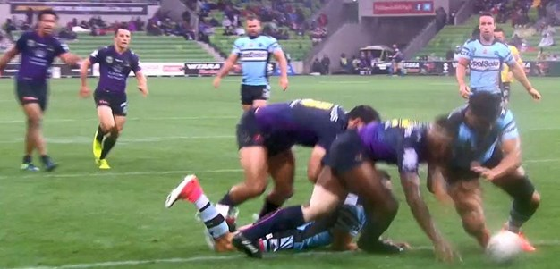 Rd 6: Storm v Sharks - No Try 49th minute