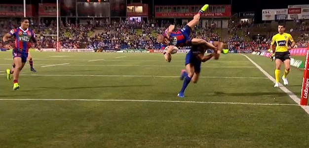 Rd 6: Knights v Bulldogs - Try 21st minute - Nathan Ross