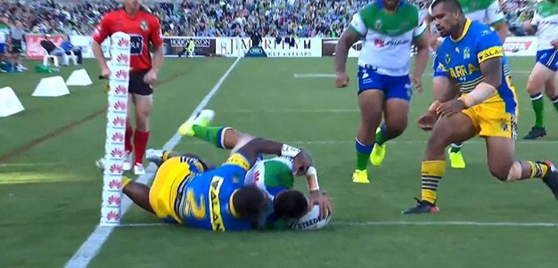 Rd 5: Raiders v Eels - Try 29th minute - Joey Leilua