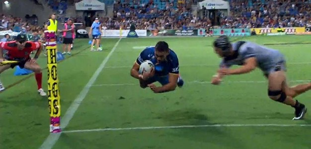 Rd 4: Titans v Cowboys - Try 55th minute - Tyrone Roberts-Davis
