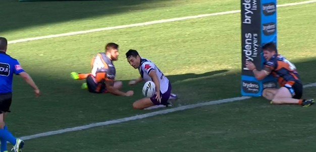 Rd 4: Tigers v Storm - No Try 76th minute - Billy Slater