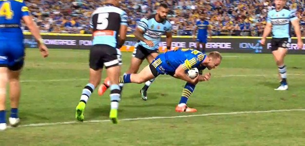 Rd 4: Eels v Sharks - Try 39th minute - David Gower