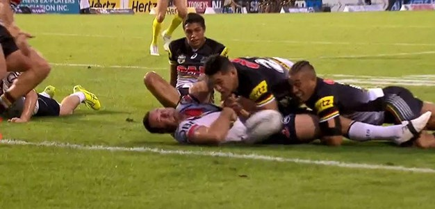 Rd 3: Panthers v Roosters - No Try 8th minute - Boyd Cordner