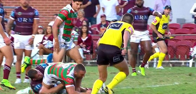 Rd 2: Sea Eagles v Rabbitohs - No Try 80th minute