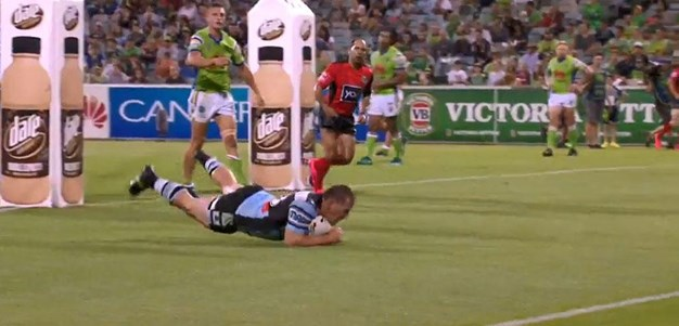 Rd 2: Raiders v Sharks - No Try 74th minute - Paul Gallen