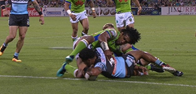 Full Match Replay: Canberra Raiders v Cronulla-Sutherland Sharks (1st Half) - Round 2, 2017
