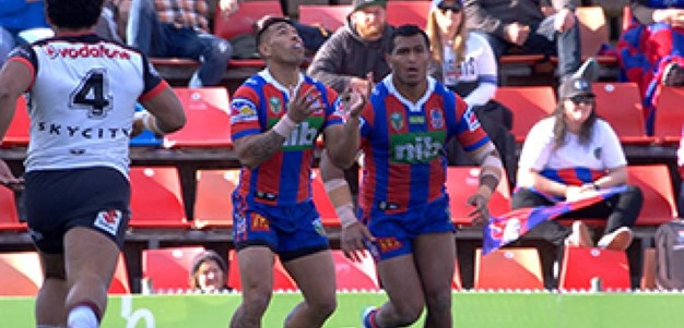 Full Match Replay: Newcastle Knights v Warriors (1st Half) - Round 22, 2017