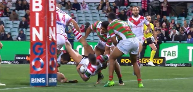 Rd 22: Dragons v Rabbitohs - Try 34th minute - Joel Thompson